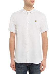Lyle and Scott Short sleeve multi colour running stich shirt