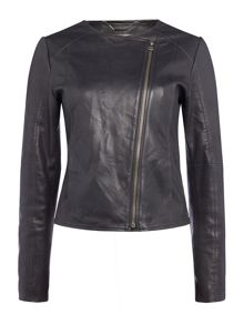 Calvin Klein Leather meadow jacket in phantom