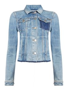 Calvin Klein Riot Denim trucker jacket in time machine