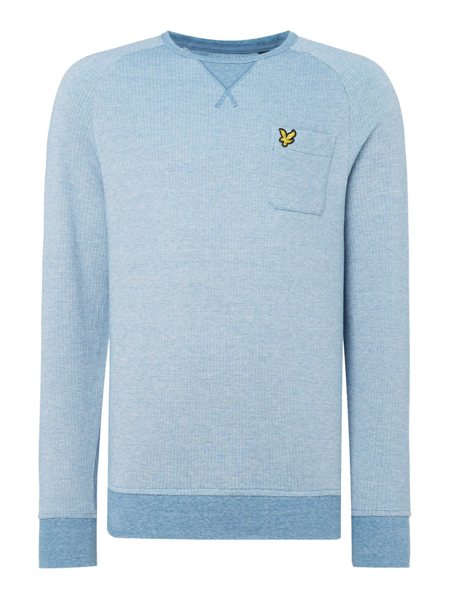 Men's Lyle and Scott Oxford crew neck sweatshirt, Light Blue