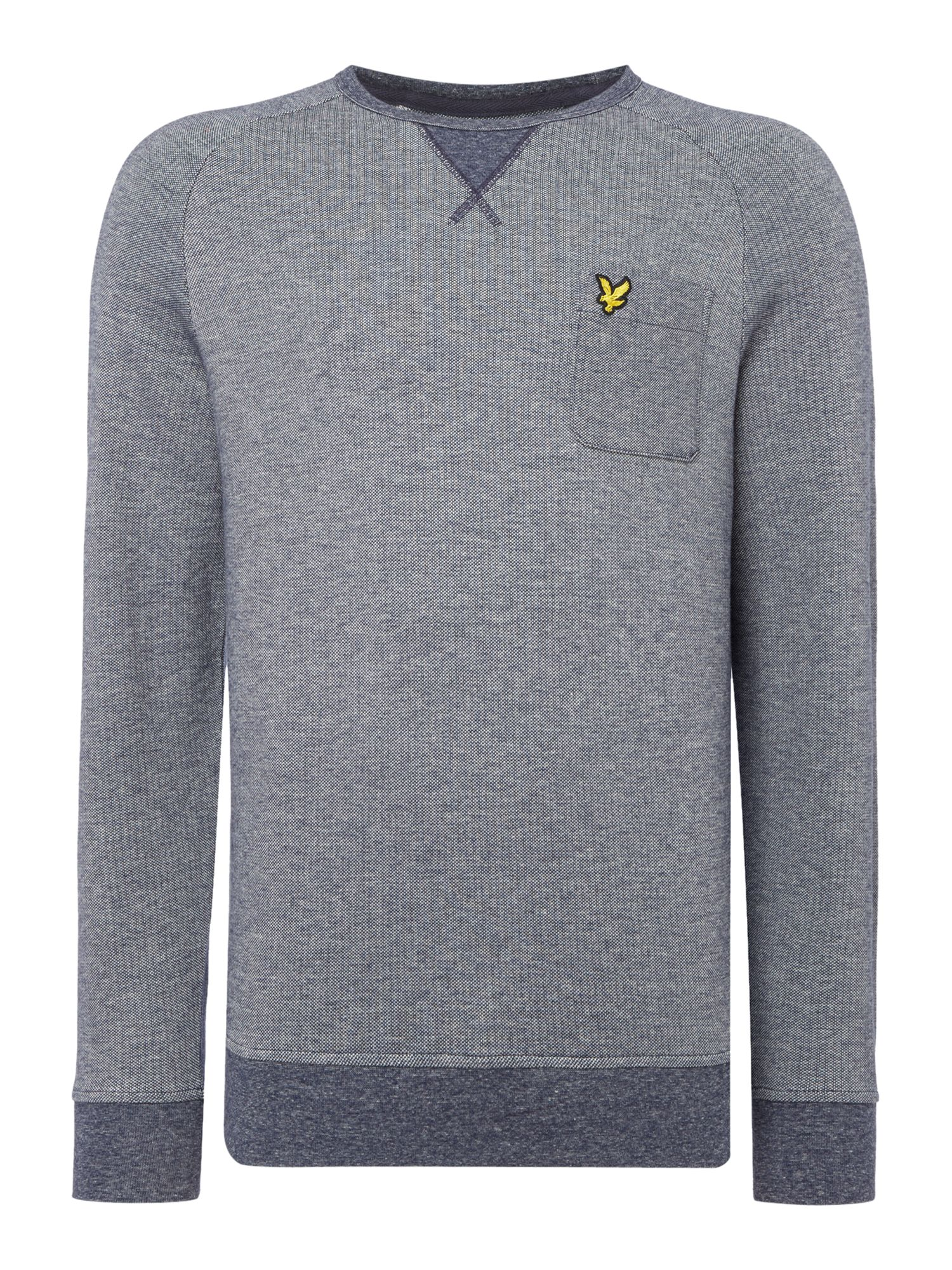 Men's Lyle and Scott Oxford crew neck sweatshirt, Blue