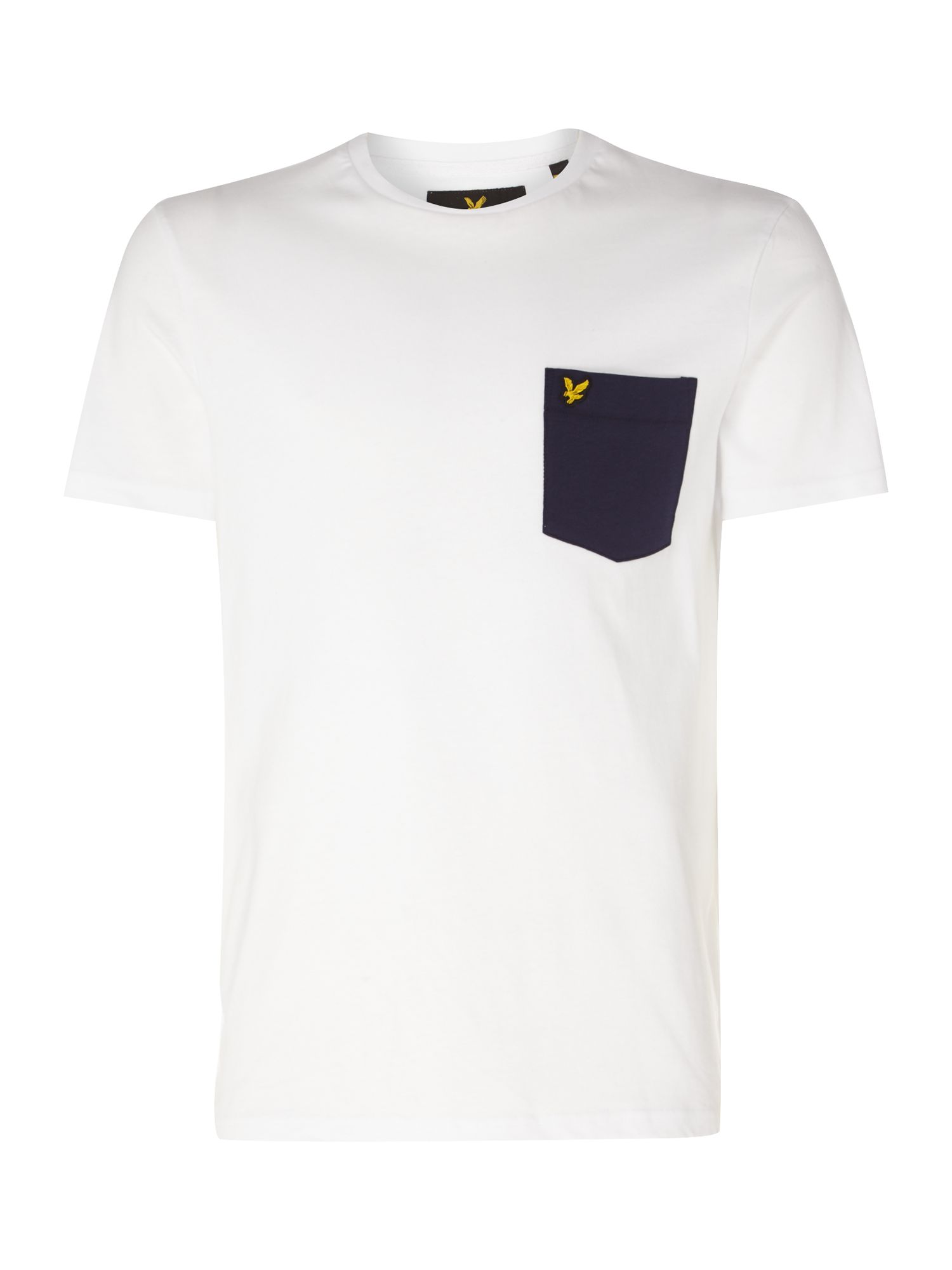 Men's Lyle and Scott Contrast pocket t-tshirt, White