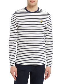 Lyle and Scott Breton stripe long sleeve t-shirt