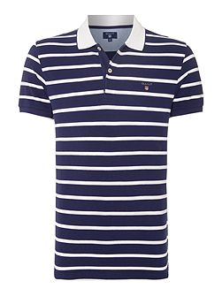 Breton Stripe Short-Sleeve Polo-Shirt