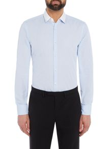Hugo Boss Jerrell Contrast Tipping on Collar Washed Shirt