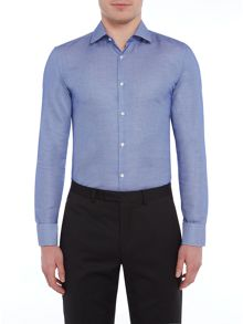 Hugo Boss Jenno Slim Fit Textured Tonal Geometric Shirt