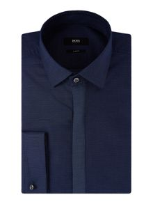 Hugo Boss Icarus Contrast Placket Spot Shirt