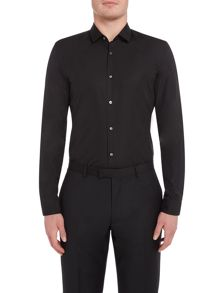 Hugo Boss Llan Small Collar Stiched Pleated Shirt