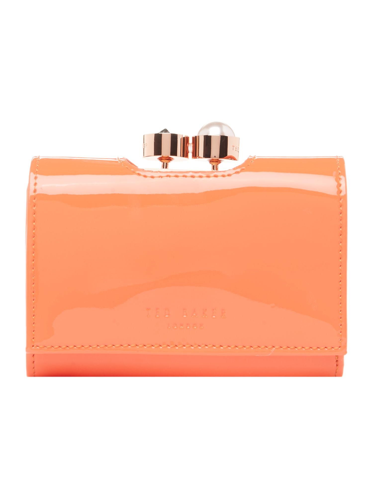 Ted Baker Alix small flapover purse Red