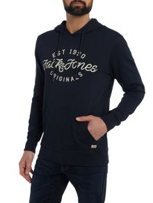Jack & Jones Large-Logo Hooded Sweat-shirt