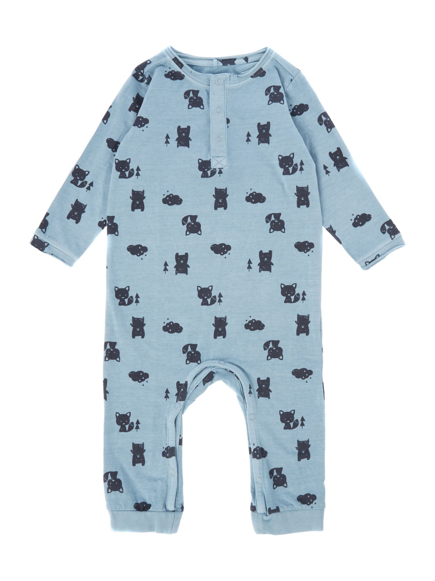 Name it name it Boys Animal Print All In One, Light Blue