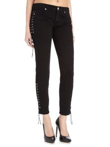 Hudson Jeans Suki midrise ankle superskinny jeans in black
