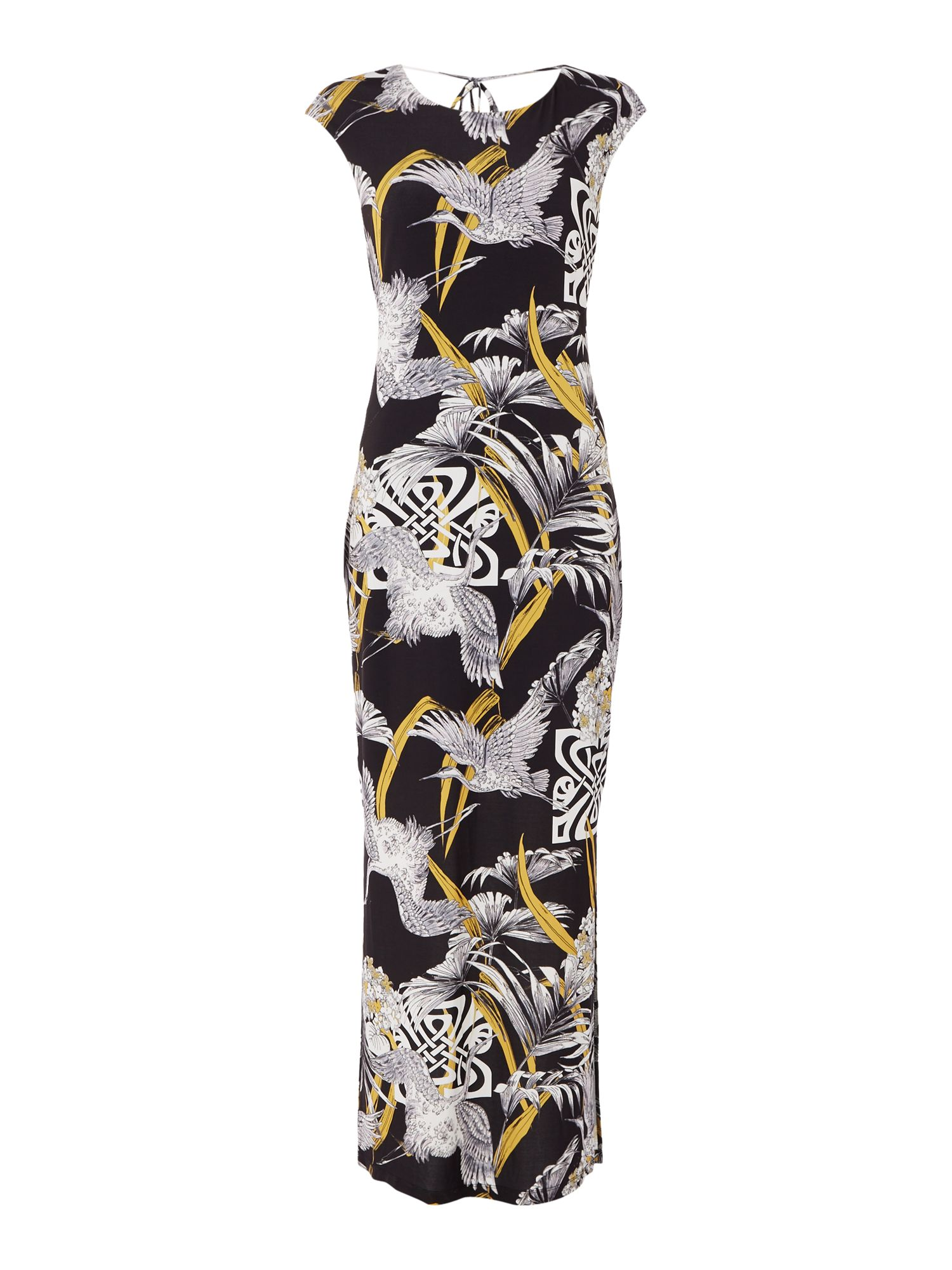 Biba Printed jersey maxi dress, Multi-Coloured