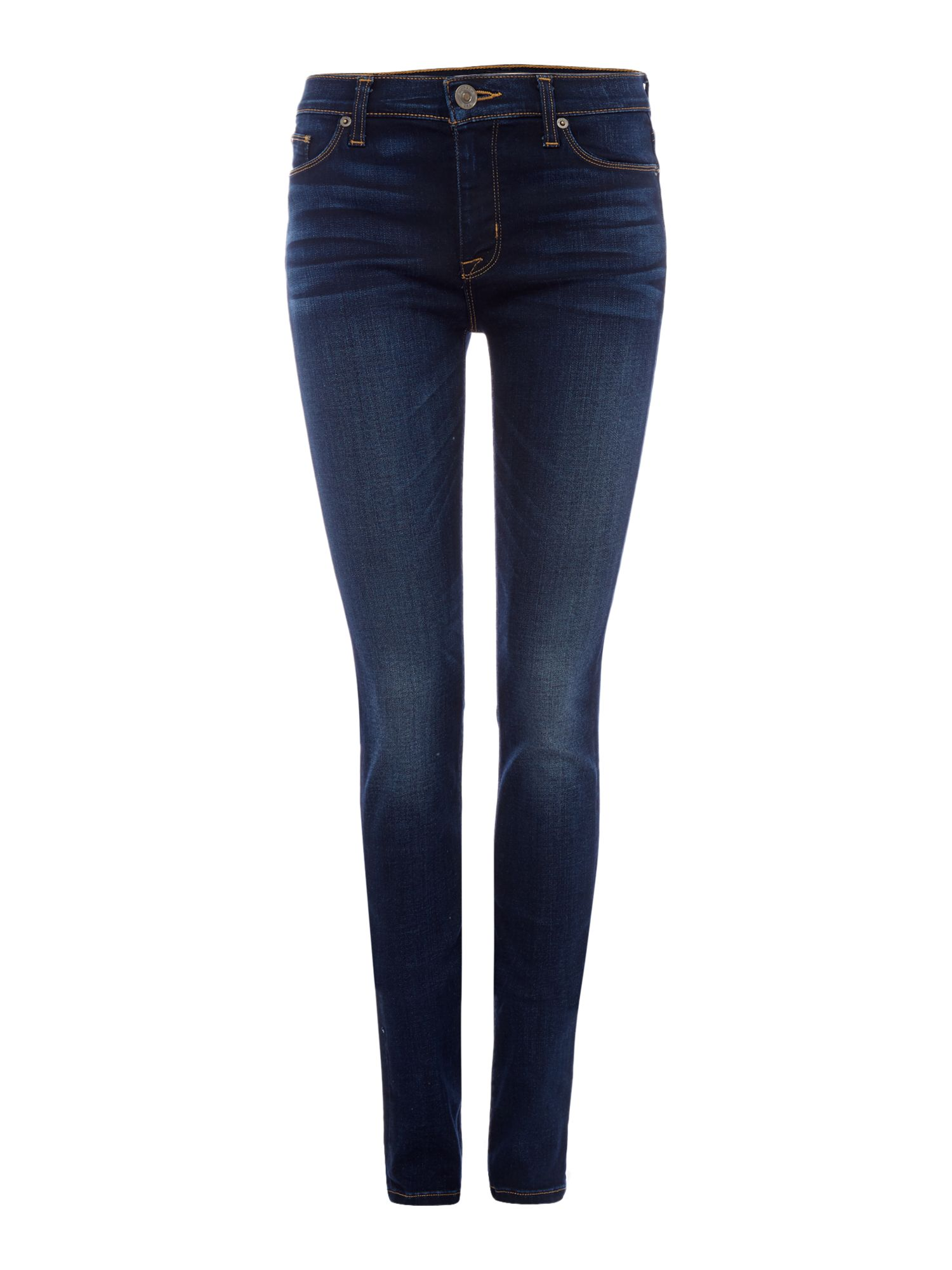 Hudson Jeans Ciara highrise exposed button jeans in black Denim