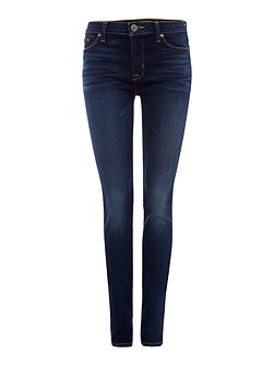 Ciara highrise exposed button jeans in black