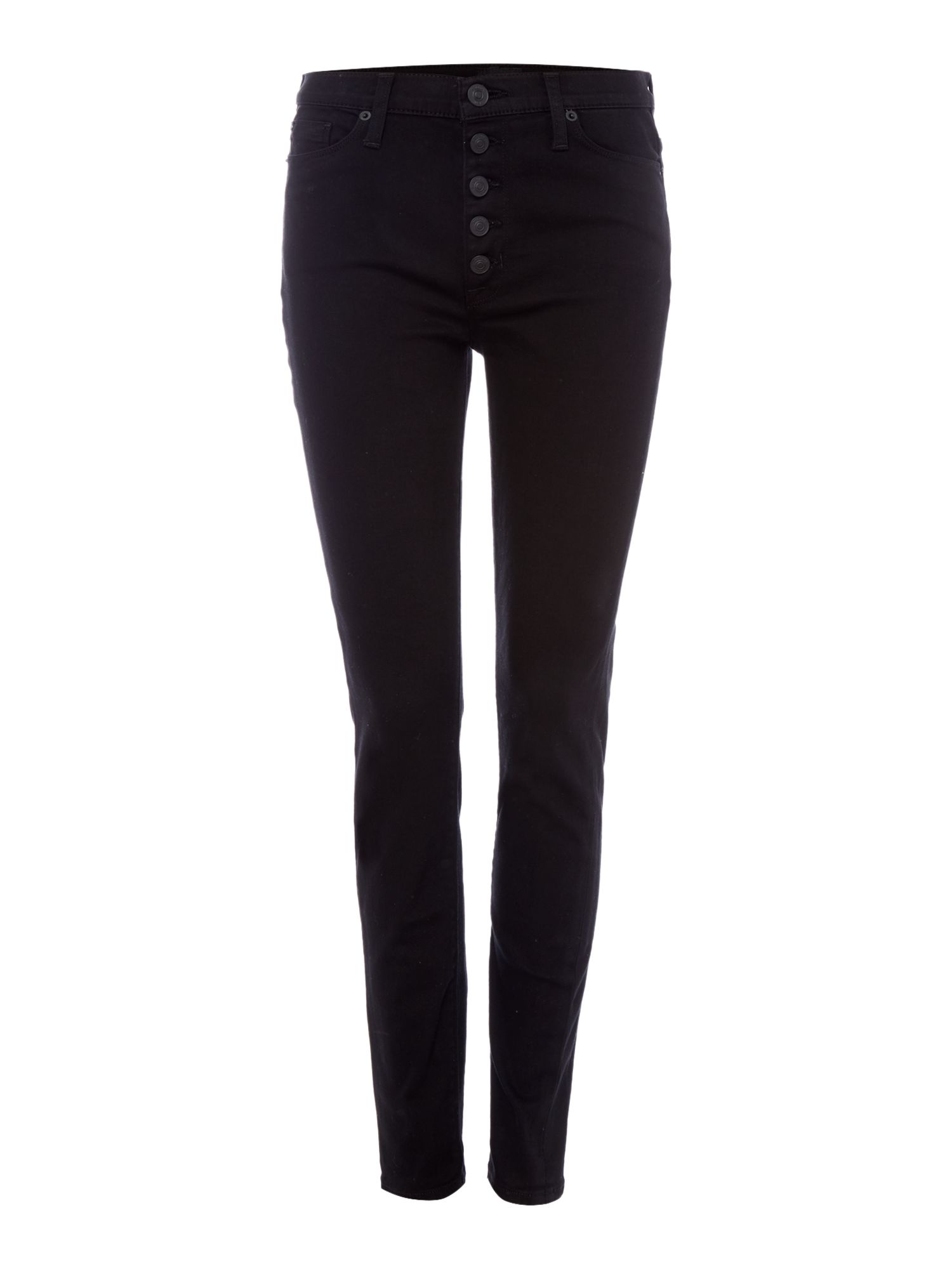 Hudson Jeans Ciara highrise exposed button jeans in black Black