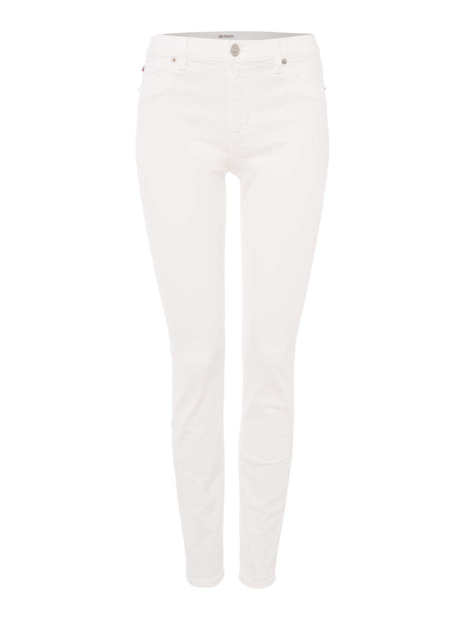 Hudson Jeans Nico midrise ankle superskinny jeans in white White