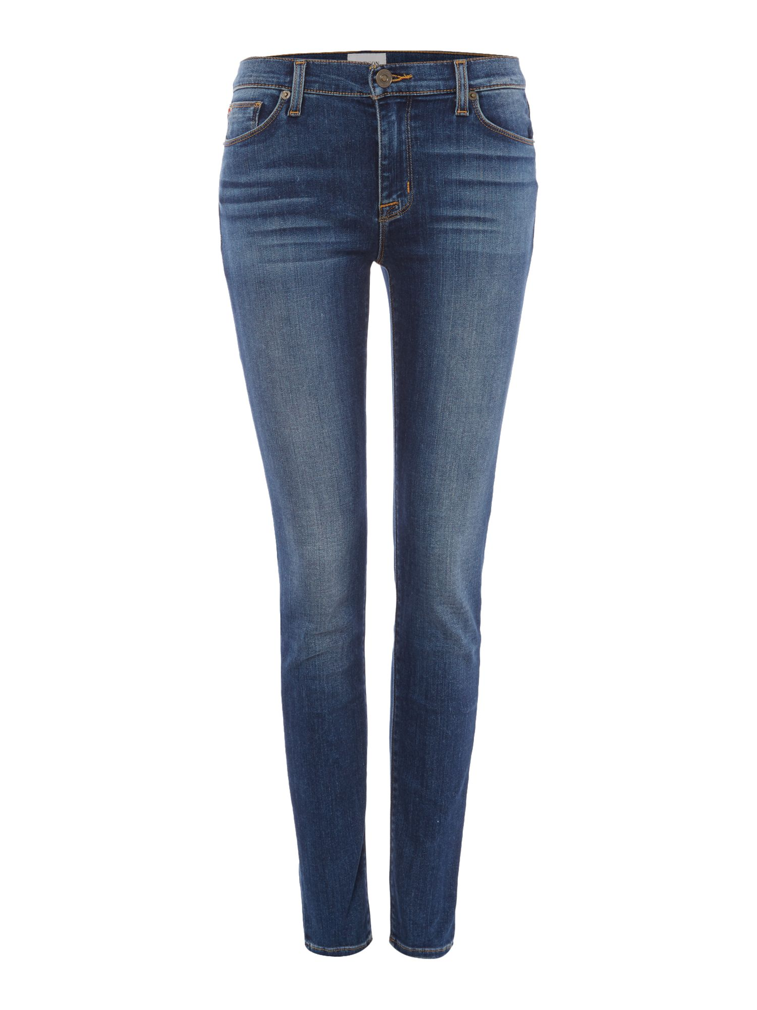 Hudson Jeans Nico midrise superskinny jeans in grave Denim