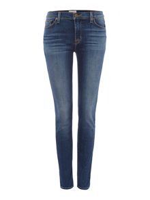 Hudson Jeans Nico midrise superskinny jeans in grave