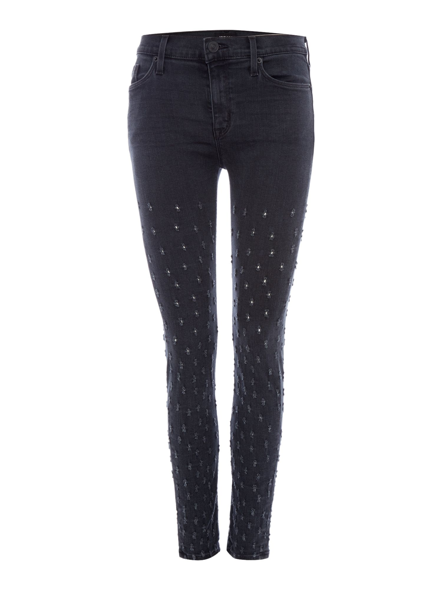 Hudson Jeans Nico midrise ankle superskinny in dissension Black