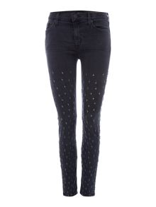 Hudson Jeans Nico midrise ankle superskinny in dissension