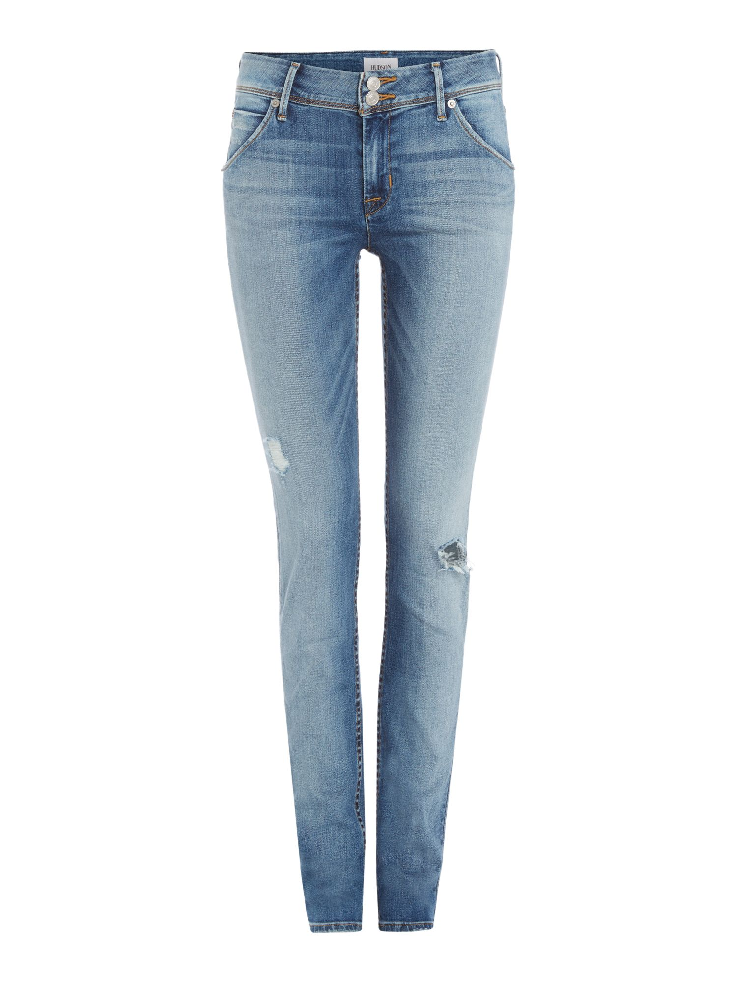 Hudson Jeans Colin midrise distressed jeans in ambitions 2 Denim Light Wash
