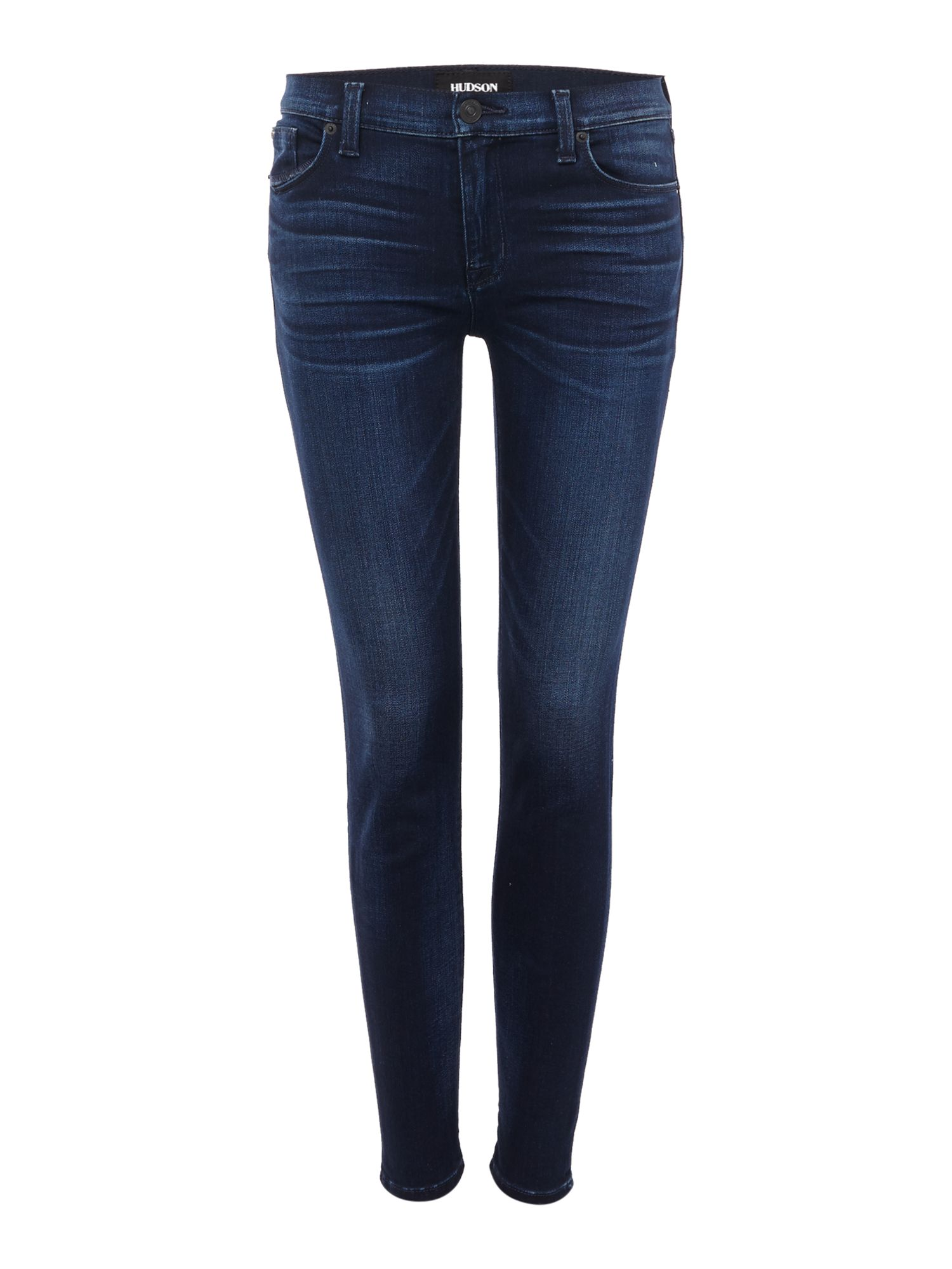 Hudson Jeans Krista ankle brushed cotton jeans in recruit Denim Dark Wash
