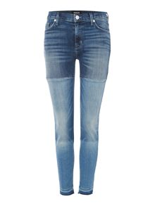 Hudson Jeans  Isla midrise crop patch jeans in high marks