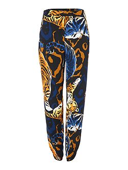 Jungle print slouch trouser