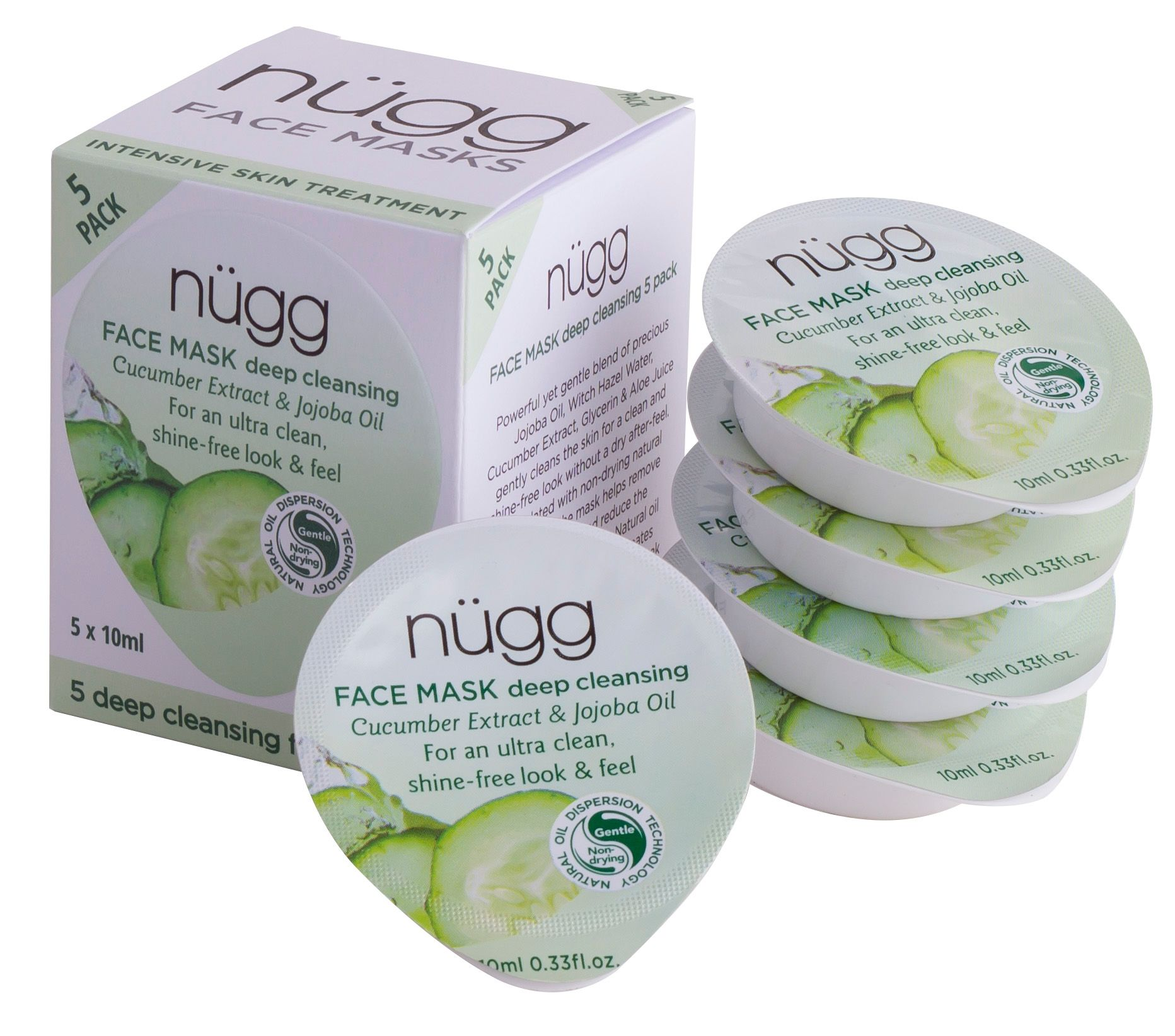 Nugg Deep Cleansing Face Mask 5 Pack