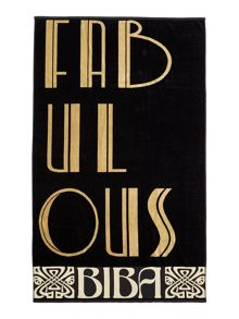 Biba Fabulous black beach towel