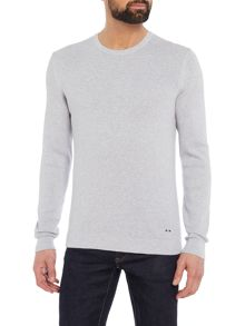 Hugo Boss Odam slim fit textured knit crew neck jumper