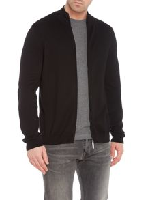 Hugo Boss Ison-O zip-up funnel neck cardigan