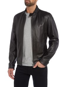 Hugo Boss Nartimo lambskin leather biker jacket
