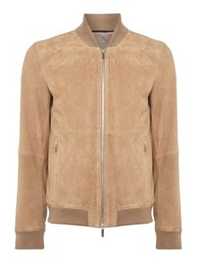 Hugo Boss Alfondo suede leather bomber jacket