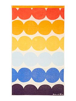 Multi dots beach towel