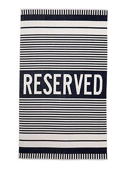 Reserved blue stripe beach towel