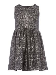 name it Girls Sparkle Jaquard Sleeveless Dress