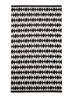 Black and white tribe beach towel