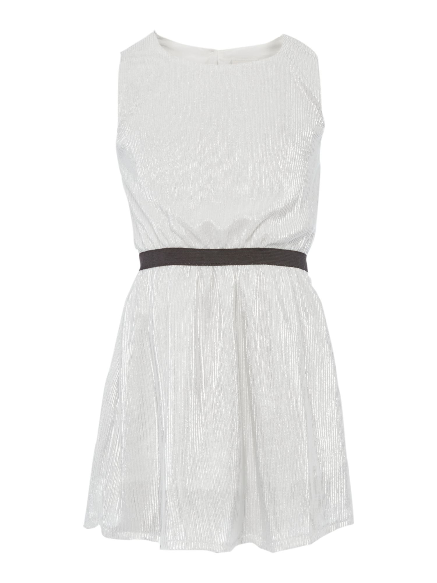 Name it name it Girls Silver Shimmer Sleeveless Dress, Silver