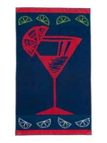 Linea Cocktail beach towel