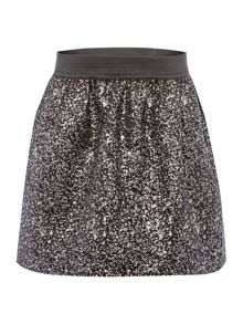 name it Girls Black Jaquard Sparkle Skirt