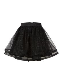 name it Girls Black Tulle Skirt