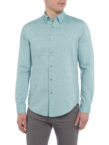 Hugo Boss Rodney 44 long sleeve linen mix shirt