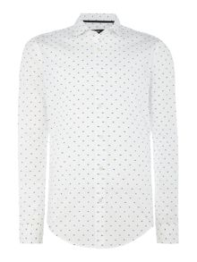 Hugo Boss Ridley F long-sleeved geo pattern shirt