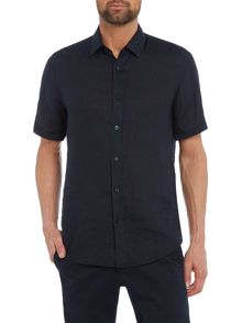 Hugo Boss Luka short-sleeve linen shirt