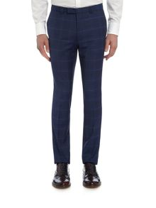 Hugo Helum Windowpane Check Suit Trousers