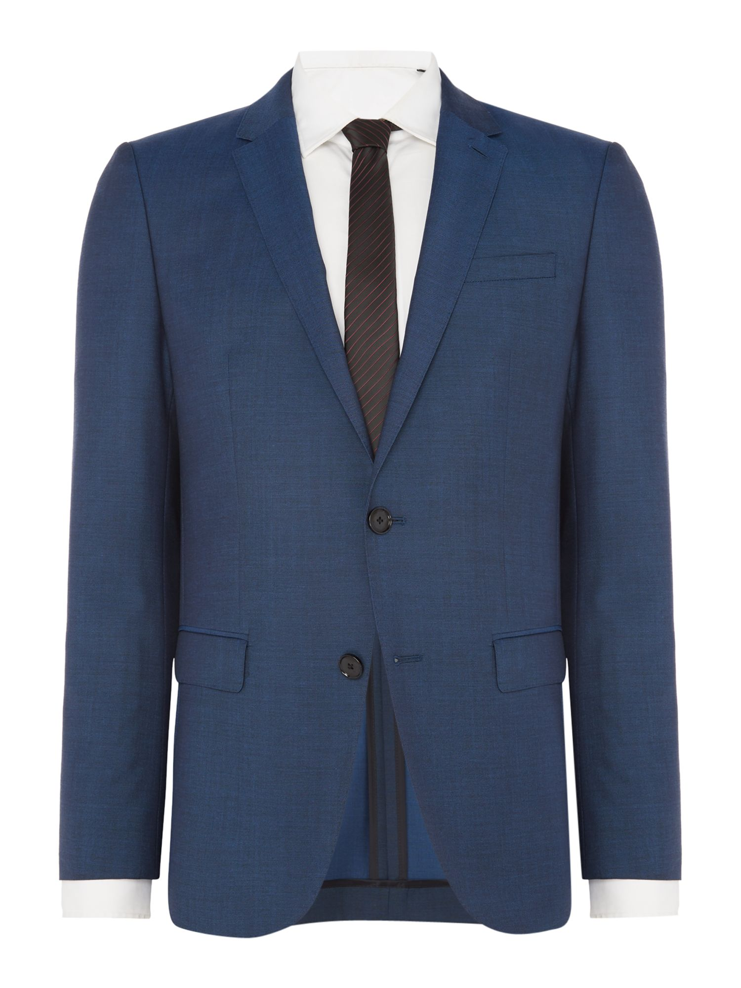 Men's Hugo Harvey Getlin Mohair Look Slim Fit Two-Piece Suit, Teal