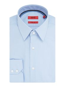 Hugo Eugen Regular Fit Cotton Shirt With Ribbon Trim