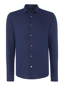 Reid F long-sleeve textured stripe shirt